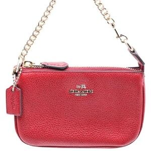 NEW!  Coach LG Red Wristlet (FABGRAD)